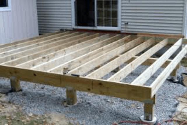 Mobile Home Deck Proper Foundation and Framing