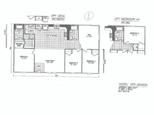 Example of a Double-Wide Mobile Home Floor Plan