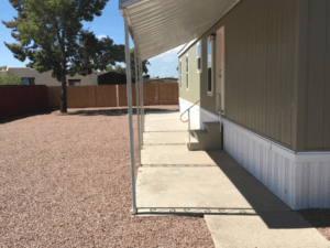 Above Ground-Set Single-Wide Manufactured Home